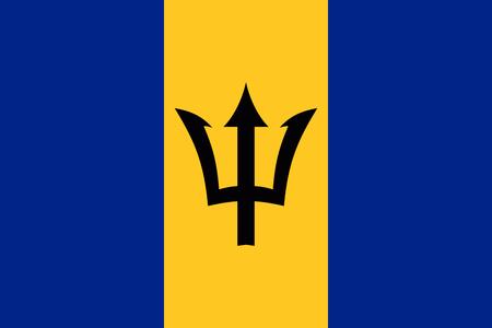 national symbol: Flag of Barbados National symbol. Vector illustration Illustration