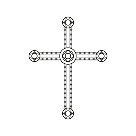 Symbol Of A Church Cross Christianity Religion Symbol Royalty Free