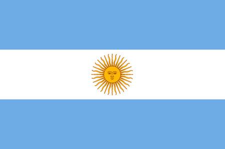 national symbol: Flag of Argentina National symbol. Vector illustration