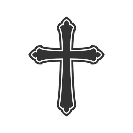 Symbool van een kerk kruis. Christendom godsdienstsymbool
