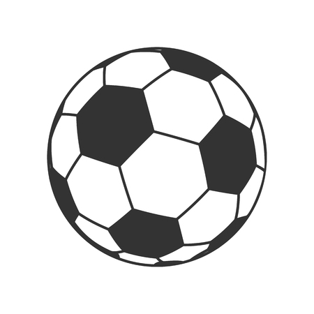 soccerball: Icon of Ball for european football. Soccer symbol, sign