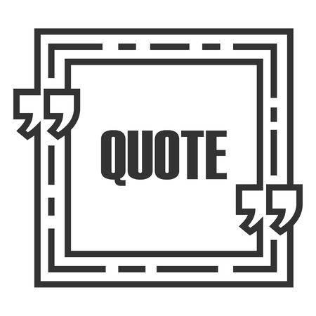 Quote Sign Icon Quote Blank Template Speech Bubble Template