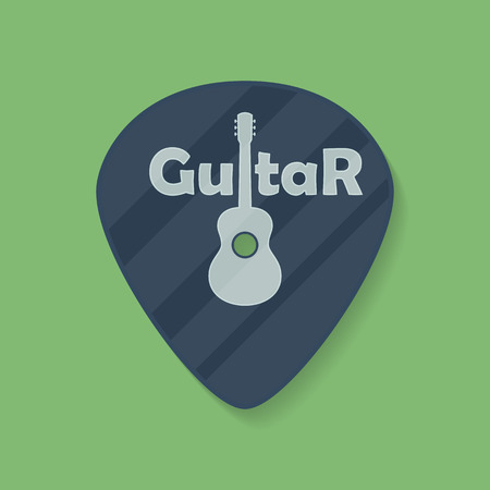plectrum: Guitar plectrum icon with the word Guitar