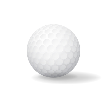golfball: Ball for Golf. Golfball icon. Game symbol