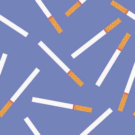 narcotics: Seamless pattern from cigarettes. Vector illustration background