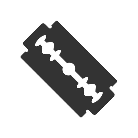 blade: Razor blade black icon symbol. Vector illustration Illustration