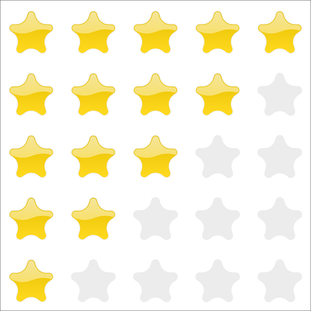 estimation: Rating stars panel. Customer review, vote navigation bar. Vector satisfaction level symbol