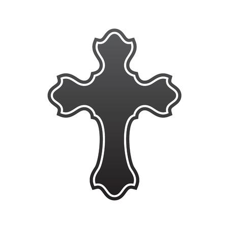 Symbol of a church cross. Christianity religion symbol Illustration