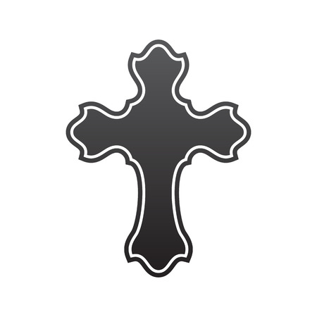 Symbool van een kerk kruis. Christendom godsdienstsymbool Stockfoto - 68283338