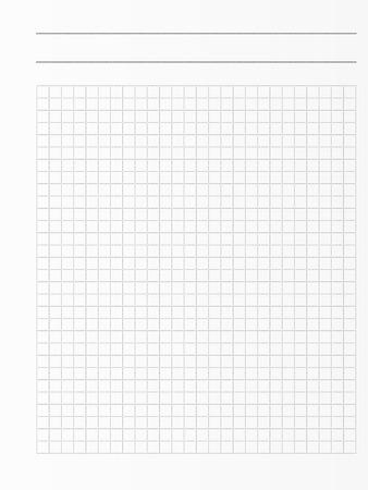 Scuola notebook foglio di carta. pagina del libro di esercitazione. sullo sfondo notepad Squared Archivio Fotografico - 68283346