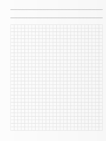 School notebook paper sheet. Exercise book page . Squared notepad backdrop Illustration