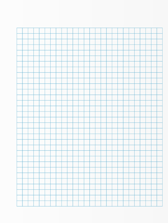 School notebook paper sheet. Exercise book page background. Squared notepad backdrop. Vector illustration