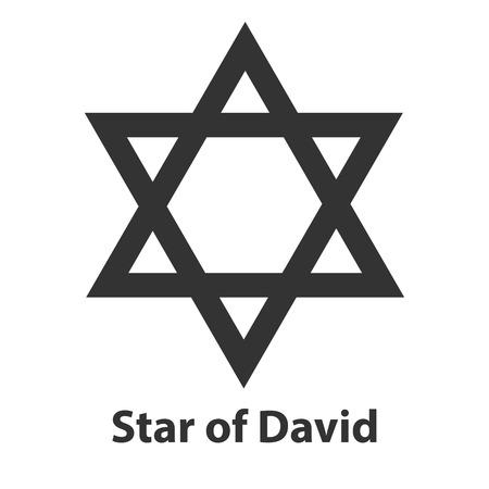 magen: Icon of Star of David symbol. religion sign