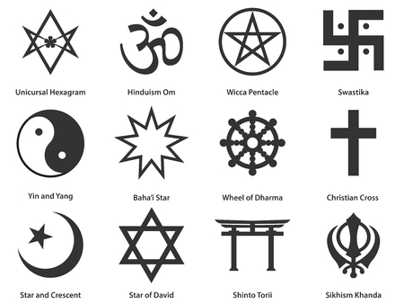 Icon set of world Religious symbols