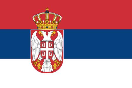 serbia: Flag of Serbia Illustration