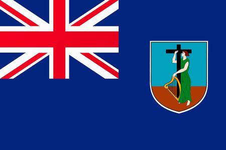 Flag of Montserrat Illustration