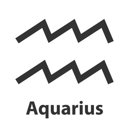 waterbearer: Aquarius, waterbearer zodiac sign. Vector Illustration, icon
