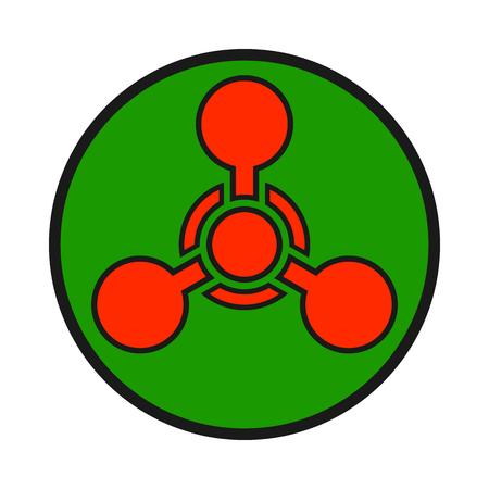 Chemical weapon warning, hazard sign Illustration