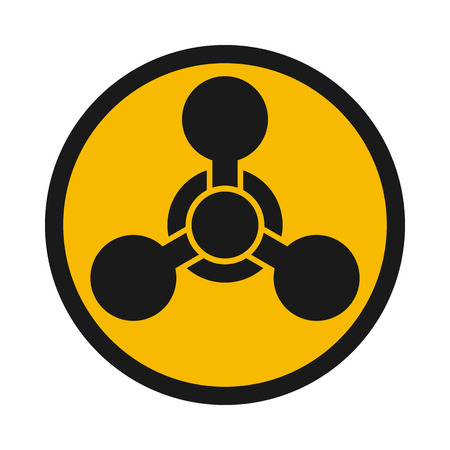 caution chemistry: Chemical weapon warning, hazard sign Illustration