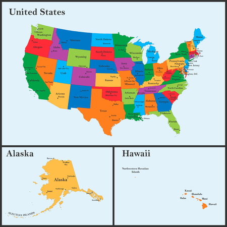 The Detailed Map Of The USA Including Alaska And Hawaii The - Alaska in us map