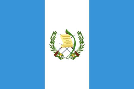 Flag of Guatemala  イラスト・ベクター素材