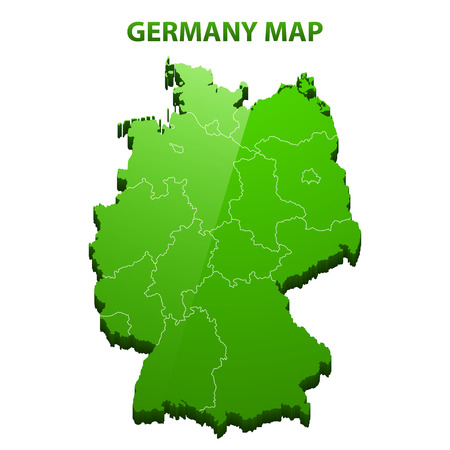 84214533 highly detailed three dimensional map of germany with regions border