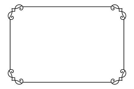 Ornamental Decorative Page Frame. Vector Line Style Border Template ...