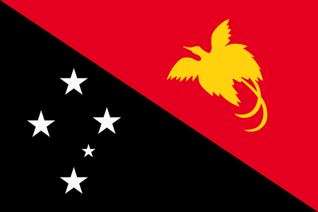 oceania: Flag of Papua New Guinea Illustration