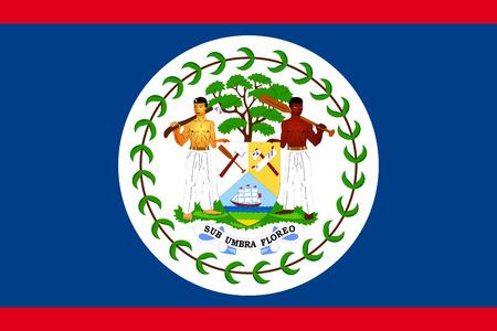 Flag of Belize Illustration