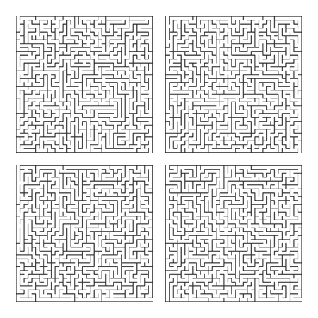 Square Labyrinth Template Maze Puzzle Game Vector Pattern Royalty