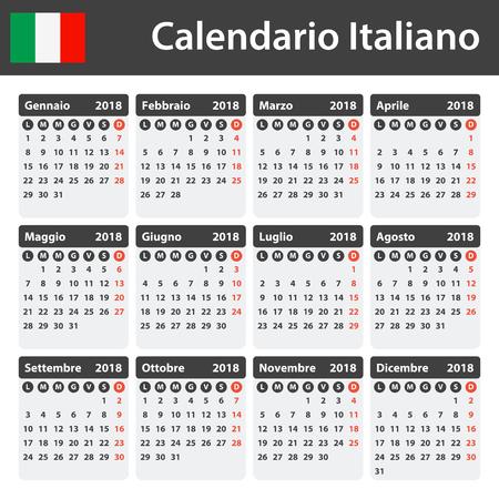 Italienisch Kalender Für 2018 Scheduler Agenda Oder Tagebuch