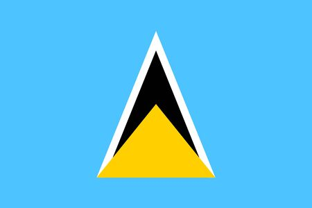 Flag of Saint Lucia Illustration