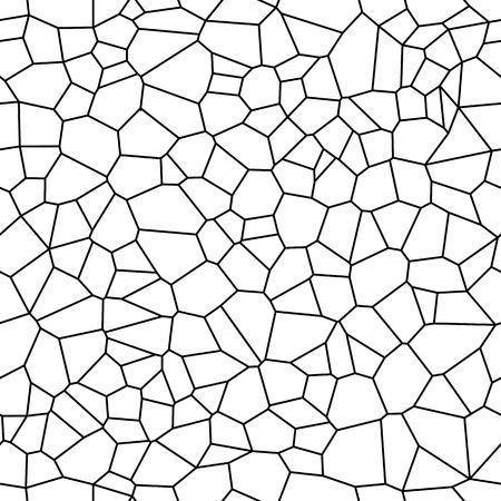 셀에서 원활한 벡터 배경입니다. 불규칙 한 모자이크 배경입니다. 보로 노이 무늬 스톡 콘텐츠 - 91116891