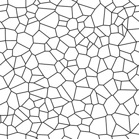 Seamless Vector Background from cells. Irregular Mosaic backdrop. Voronoi pattern Vettoriali