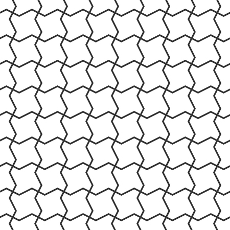 Net seamless pattern. Abstract zigzag grid vector background Illustration