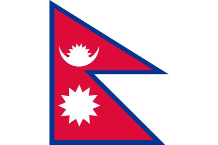 ネパールの国旗。ベクトル イラスト ・ テンプレート  イラスト・ベクター素材