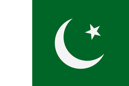 National flag of Pakistan. Vector illustration, template Фото со стока - 91116297