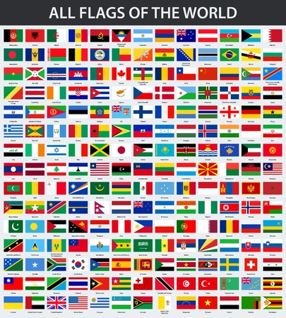 All flags of the world in alphabetical order