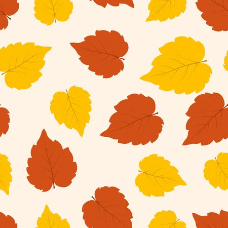 Autumn Leaves seamless pattern. Abstract vector background
