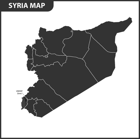 The detailed map of Syria with regions or states. Administrative division