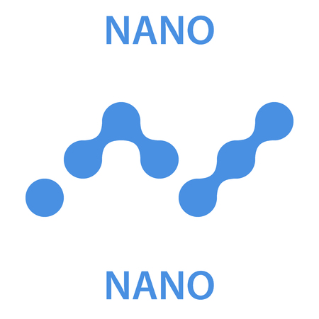 Nano Coin cryptocurrency blockchain icon. Virtual electronic, internet money or cryptocoin symbol, logo