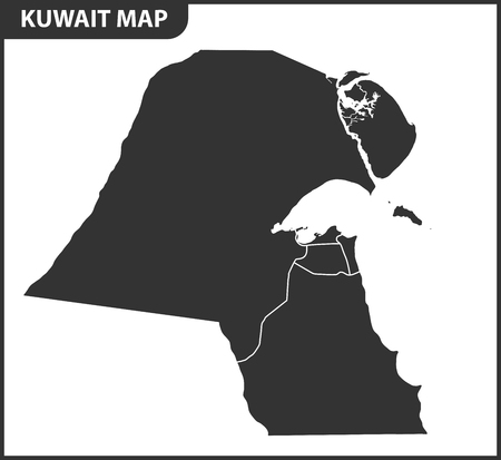 The detailed map of the Kuwait with regions or states. Administrative division. Ilustrace