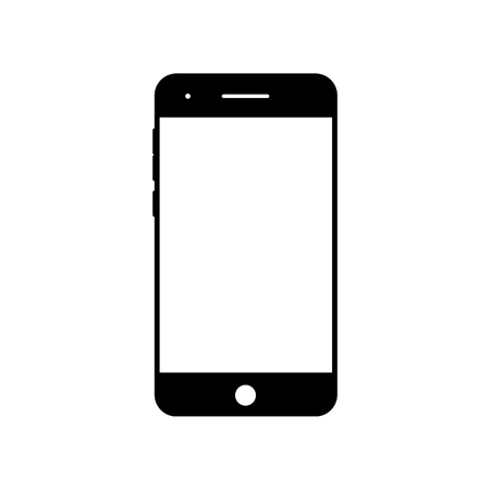 Empty smartphone icon. Cell phone symbol. Mobile gadget, PDA template Illustration