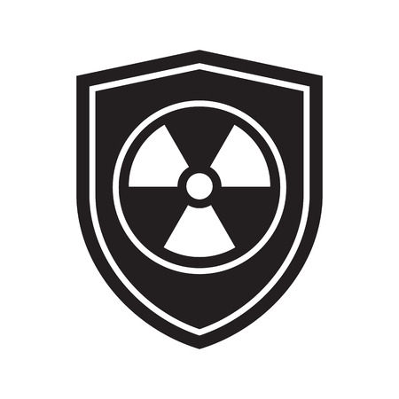 Icon of Radiation shield. Defense, protection or safety symbol, sign Imagens - 109426738