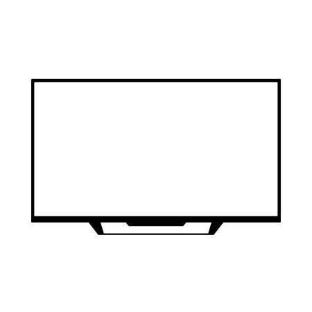 TFT LED wide screen smart tv icon Illustration