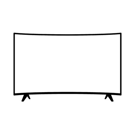TFT LED wide screen smart tv icon  イラスト・ベクター素材