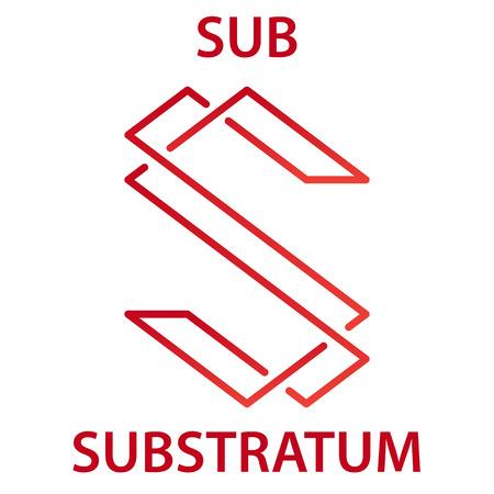 Substratum Coin cryptocurrency blockchain icon. Virtual electronic, internet money or cryptocoin symbol, logo Logo