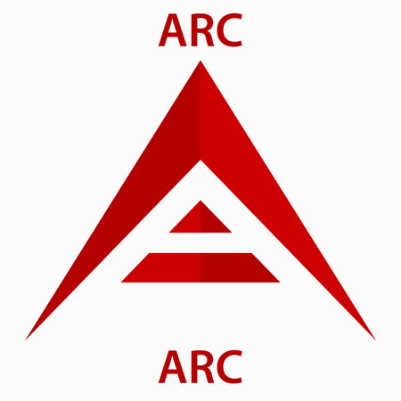 ARC Coin cryptocurrency blockchain icon. Virtual electronic, internet money or cryptocoin symbol, logo