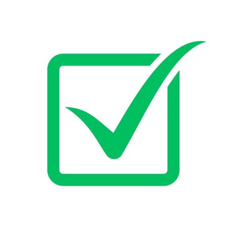 Simbolo del segno di spunta, icona della casella di controllo