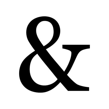 Ampersand symbol isolated on white Illustration